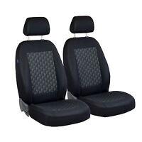 Schwarz Effekt 3D Sitzbezüge für OPEL CORSA Autositzbezug VORNE