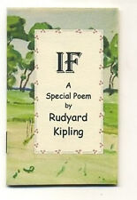MINIATURE BOOK : Rudyard Kipling IF a Special Poem = Ideal gift for a graduate