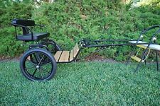 New Easy Entry Horse Cart-Mini Size Wooden Floor w/Motorcycle Tires
