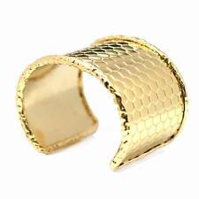 Gold Plated Cuff Bracelet De Buman 14K Yellow