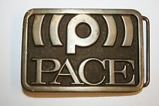 Vintage 1976 PACE Sound Satelite Signal Solid Brass Uniform Belt Buckle Rare