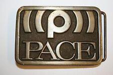 Vintage 1976 PACE Sound Satelite Signal Solid Brass Uniform Belt Buckle Rare