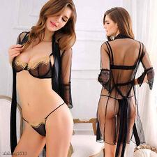 Women's Sexy/Sissy Lace Lingerie Babydoll G-String Nightwear Underwear Bra Suit