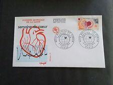 FRANCE, 1972, FDC 1° JOUR MOIS MONDIAL DU COEUR, WORLD MONTH HEART, VF