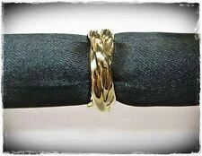 NUOVO 18mm/56 Triple Anello Colori Oro Anello da Donna Anello Dito Anello tripartita intrecciato