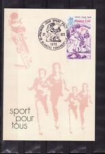 carte  1er jour   sport   pour tous  Blanzac Porcheresse   1978