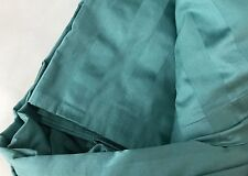 Teal Mineral Blue Queen Comforter Duvet Cover Sateen Stripe 350 TC Company Store