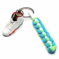 3D Mini Sneaker Shoes Keychain Olympic Keyring With Strings for Air Jordan 6