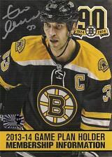 Zdeno Chara Boston Bruins Signed Autographed 90th Anniversary Season Ticket ID