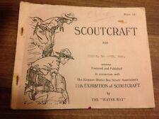 Vintage Scout Publication / Booklet Scoutcraft 3rd April 1936 Kingston District