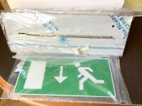 2 x Emergency Exit Sign LED (Recessed) 230V BLE - SPURLITE BE3/LED/M3 Arrow Down