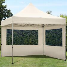 3x3m Faltpavillon Faltzelt ALU Pavillon Partyzelt mit 2 Seitenteilen, creme