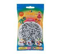 Sachet de 1000 perles à repasser hama midi couleur gris clair hama20770