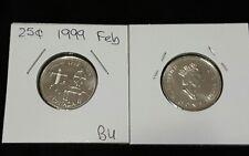1999 25c BU Canada Quarter Dollar - Millennium Designs - February