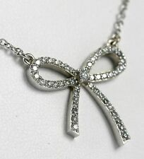 Bow Style Necklace 14k WG with 47-Diamonds @ 0.49ct Total Weight