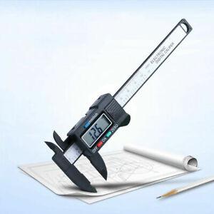 "Digital Vernier Caliper Electronic LCD Ruler Gauge 6"" /150mm Measuring Black UK"