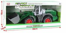 Farm Tractor Model With Digger 1:32 Scale Farm Work Vehicles Toy