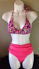 R Collection by RAISINS Women's 2pc Bikini Swimsuit Size Medium Fold Waist
