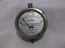 Antique Eveready amperes gauge batteries flashlight