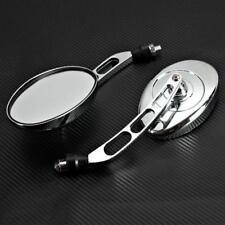 Oval Rearview Mirrors For Honda Shadow Rebel 250 500 750 1100 VTX VT 1300 1800 C