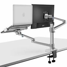 New listing viozon Monitor and Laptop Mount, 2-in-1 Adjustable Dual Monitor Arm Desk Mounts