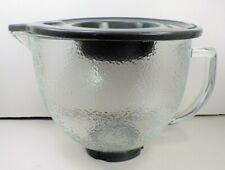 KITCHENAID HAMMERED GLASS MIXING BOWL W/ LID (5 QUART) for TILT HEAD MIXER