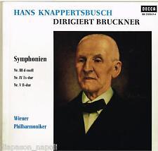 Bruckner: Sinfonie N.3, 4, 5 / Hans Knappertsbusch, Wiener - LP BLK-21020/1-4