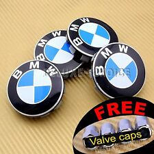 4 CAR ALLOY WHEEL HUB CAP CENTER CENTRE BADGE LOGO CREST 69MM FACE USA US seller