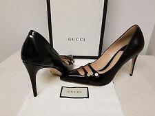 Gucci Aneta Double-Strap Patent Pump, Black Original:$695.00 Size - 36