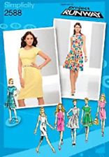 Simplicity Pattern 2588, Project Runway Dress, Wide Neckband, Sizes 4 - 12 NEW