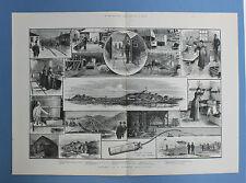 Dynamite manufaktory-dinamita fabricación 55 x 39cm original 1884 Alfred Nobel