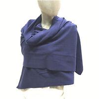 Cashmere Company Sciarpa Donna Blu Scialle Coprispalle Lana Cashmere Stola 85040