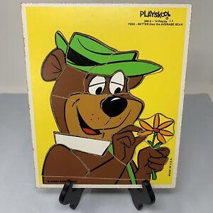 340-6 PLAYSKOOL Yogi Better Than The Average Bear 14 Pcs Wooden Puzzle Vintage