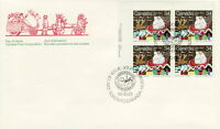 CANADA #1067 34¢ SANTA CLAUS PARADE UL PLATE BLOCK FIRST DAY COVER