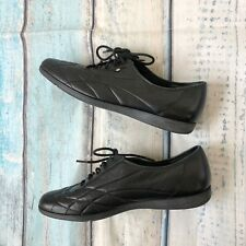 Easy Spirit Comfort Sz 9.5 Women's Shoes Black Leather Lace Up