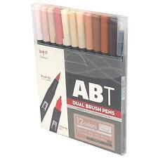 Tombow ABT Dual Brush Pen Art Markers 12 Pack Portrait AB-T12CPO Genuine