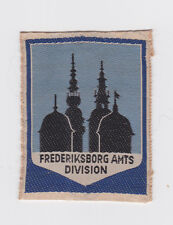 SCOUTS OF DENMARK - DANISH DDS (BOY SCOUT) FREDERIKSBORG AMTS BADGE E++++ SCARE