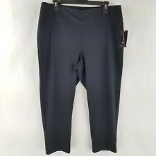INC Womens Pants Leggings Thick Waistband Stretch Black Size 1X NEW