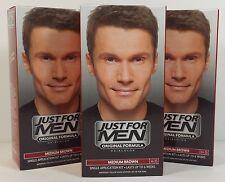 JUST FOR MEN Original Formula Hair Color Medium Brown H-35 kit / 3-Packs