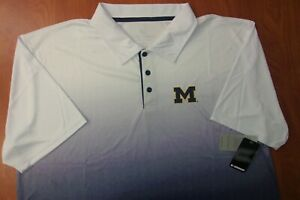 Colosseum Michigan Wolverines Performance Stretch Golf Polo Shirt 3XL ~NWT~