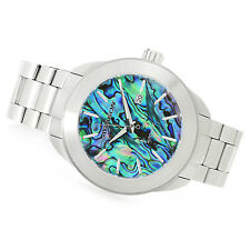ARAGON 50mm Savant Automatic Abalone Dial Stainless Steel Bracelet Watch