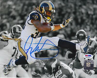 Todd Gurley Signed 8x10 St. Louis Rams Photo - Spotlight Leap Close PSA/DNA COA