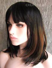 Medium Amber Color Black/Brown Elegant Wig Hair  (FV0497 1B-33-30)