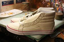 Vans SK8-HI Slim (Leather Canvas) Bone NIB Size US Men's6 Women's7.5 VN0A32R2MXN