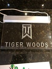 Vintage Tiger Woods Sign Lamp Very Rare Collectible Great Gift Plaque
