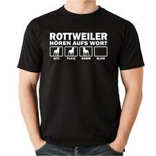 T-Shirt ROTTWEILER HÖREN AUFS WORT Herren Hundemotiv Hunde Rotti