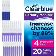 20 x Clearblue Advanced Monitor Fertility Test Stick Refill & 4x Pregnancy Tests