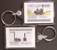 1830 Canterbury & Whitstable Railway INVICTA Train Stamp Keyring (Loco 100)