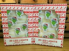 2 x The Grinch Christmas Led Lights Indoor Decorations Primark New 2x20