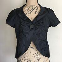 Max Mara Silk Jacket Short Sleeve Ballero Size 2 Made Italy